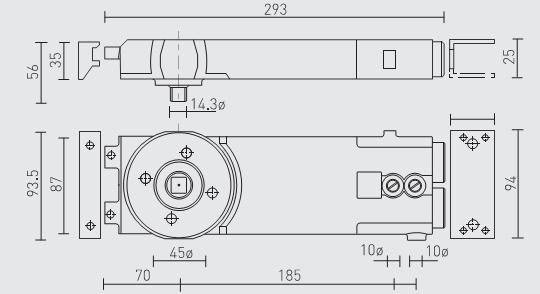 A-TC8812-90 AXIM Transom Closer Hold-open Med duty & Pivot Kit